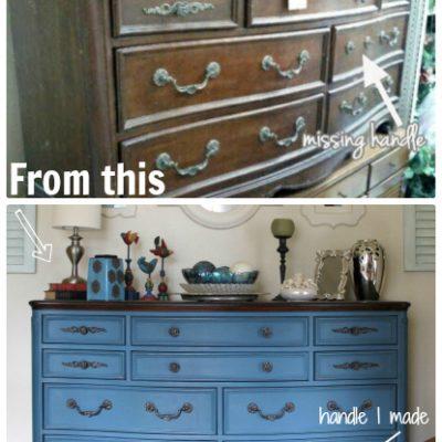 Aubusson Blue, Dresser Re-Do