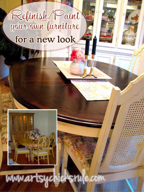 Dining Set After Paint Refinish