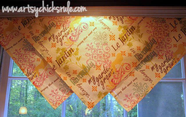 Easy No Sew Curtains:Artsy Chicks Rule