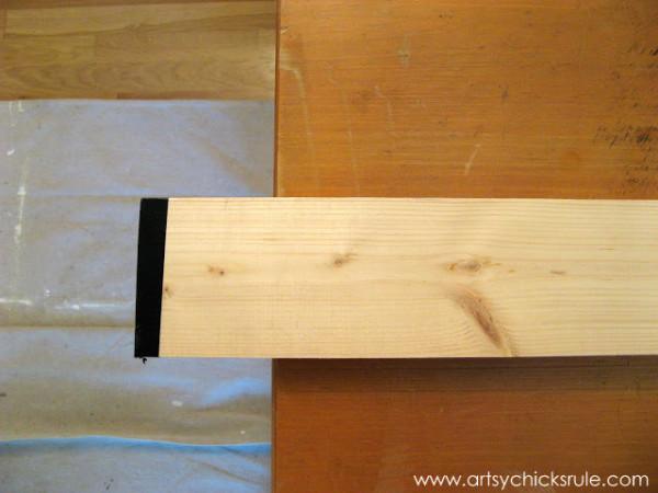 Wall Art Coat Rack - DIY - lumber - artsychicksrule.com #coatrack #diy #wallart