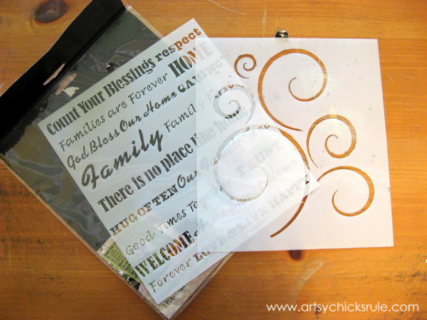 Wall Art Coat Rack - DIY - stencils - artsychicksrule.com #coatrack #diy #wallart