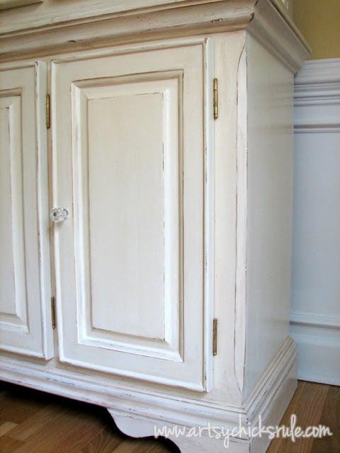 China Cabinet Re-do-Paint & Glass Knobs artsychicksrule.com