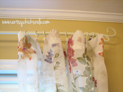 No-Sew Curtains-artsychicksrule.com