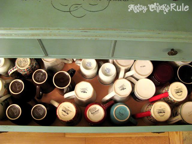 Antique Dresser turned Coffee Server / Artsy Chicks Rule
