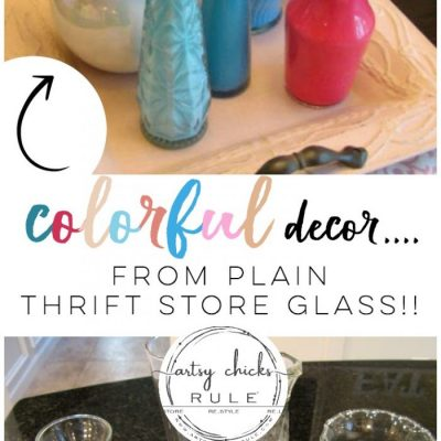 Plain, Clear Glass Vases To Colorful Home Decor