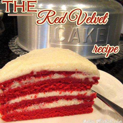 Old Family Recipe the REAL Red Velvet Cake Recipe Artsy Chicks Rule