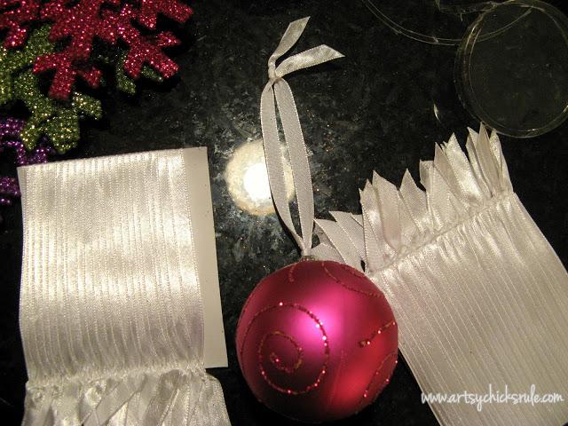 Oh Christmas Tree!...Super White, Super Sparkly & Super Colorful! artsychicksrule.com