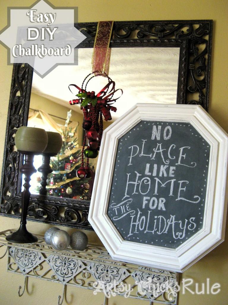DIY Chalkboard from Old Pictures - #chalkboard #diy #chalkpaint artsychicksrule.com