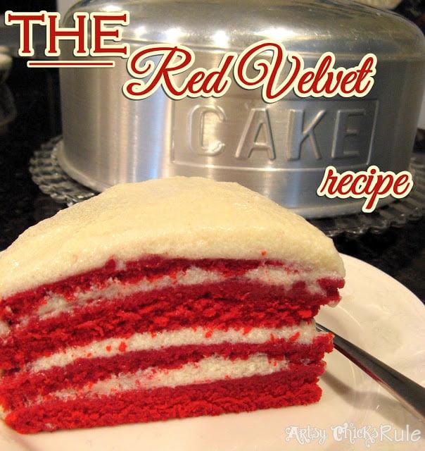 The REAL Red Velvet Cake Recipe (the secrets in the frosting!) artsychicksrule.com #redvelvet #redvelvetcake