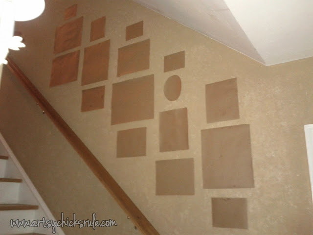 Wall Templates for Thrifty Gallery Wall: Artsy Chicks Rule