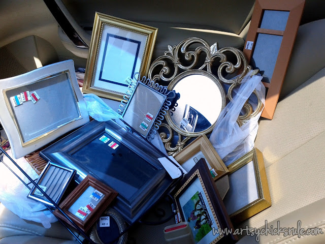 Frames for Thrifty Gallery Wall : artsychicksrule.com