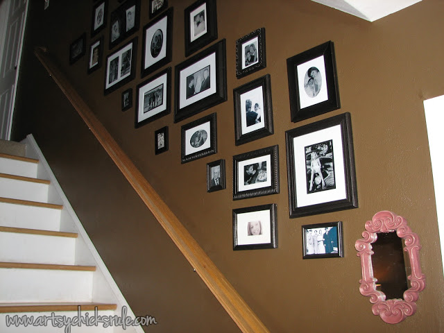 Finished Thrifty Gallery Wall: Artsy Chicks Rule