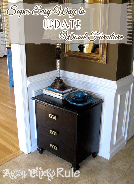 Ordinaire Super Easy Way To Transform U0026 Update Wood Stained Furniture   Artsychicksrule.com #polyshades
