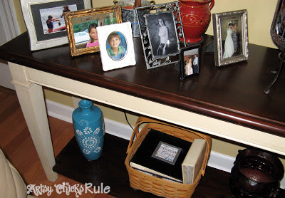 Super Easy Way to Transform & Update Wood Stained Furniture - artsychicksrule.com