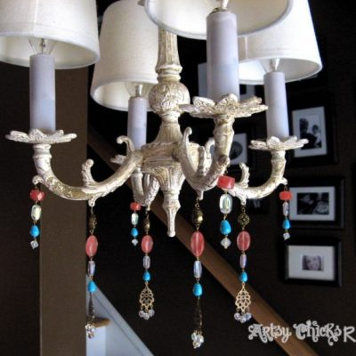 Hand Beaded Chandelier – New Life for an Old Fixture