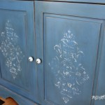Multi Layer Blue Chalk Paint w/Dark Wax