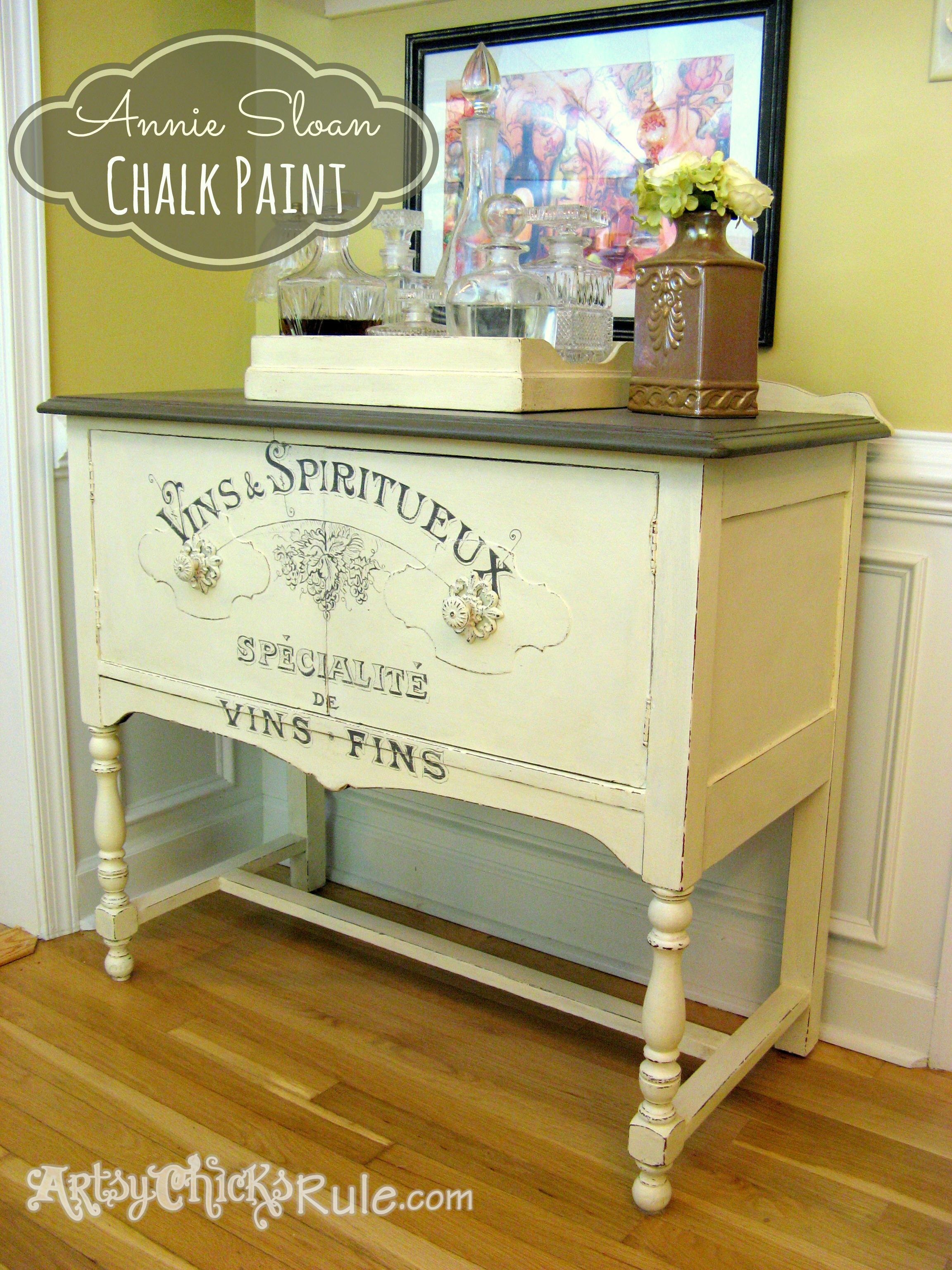 Attrayant Antique Sideboard Makeover   Chalk Paint Graphics