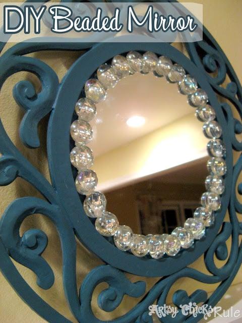 Simple, Inexpensive & Easy DIY Beaded Mirrors-Artsy Chicks Rule