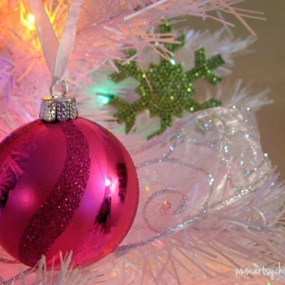 Oh Christmas Tree!…Super White, Super Sparkly & Super Colorful!