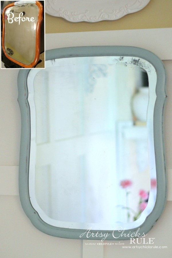 Annie Sloan Chalk Paint - It's Not Just For Furniture - $6 thrift store mirror - #chalkpaint #ascp #anniesloan artsychicksrule.com