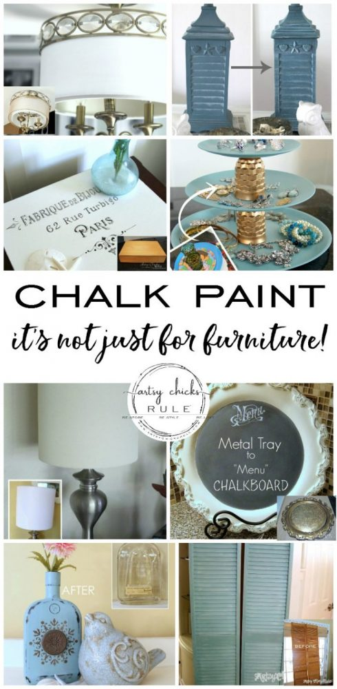 Annie Sloan Chalk Paint - It's Not Just For Furniture - You can use for almost anything! - #chalkpaint #ascp #anniesloan #anniesloanchalkpaint #chalkpaintforfurniture #chalkpaintforeverything artsychicksrule.com