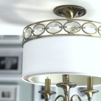 How To Paint Light Fixtures (update without taking them down!)