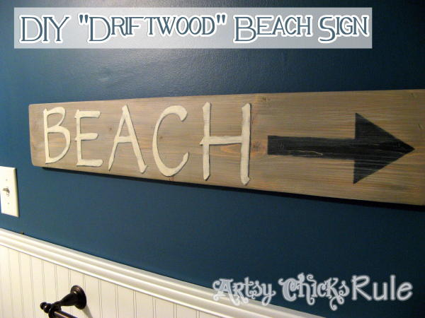 Driftwood Beach Sign Tutorial - Finished2 - Artsy Chicks Rule