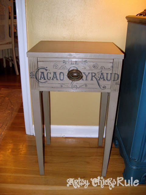 Coco Chalk Paint Antique Side Table / Artsy Chicks Rule