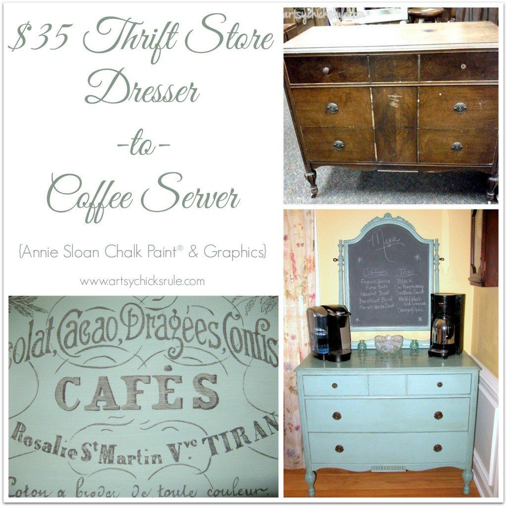 Antique Dresser to Coffee Server