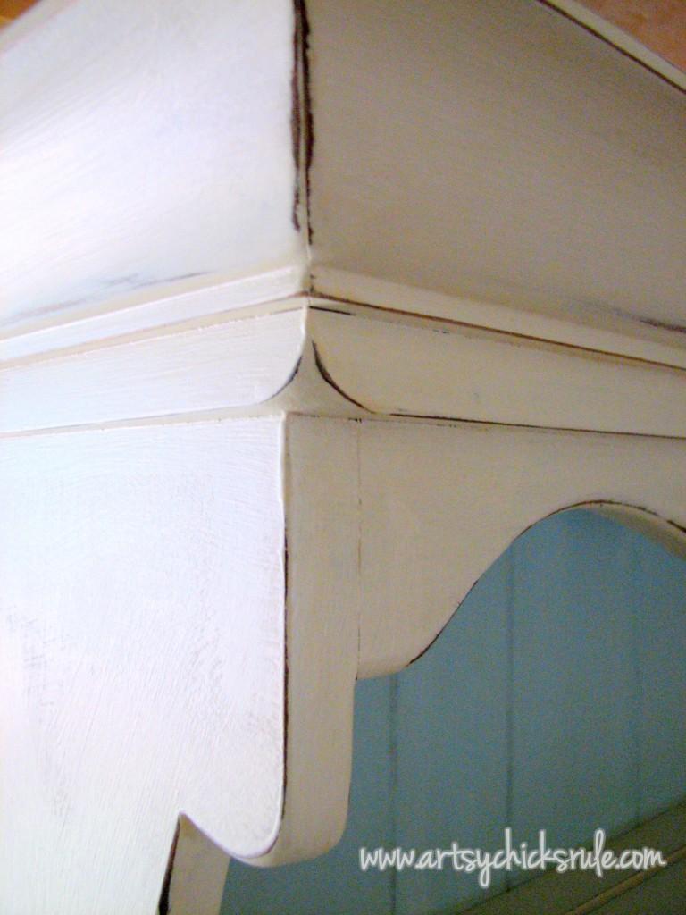 Annie Sloan Chalk Paint Blue Hutch artsychicksrule.com #shabbyfurniture #chalkpaintedfurniture #fixerupperstyle #farmhousedecor #farmhousehutch