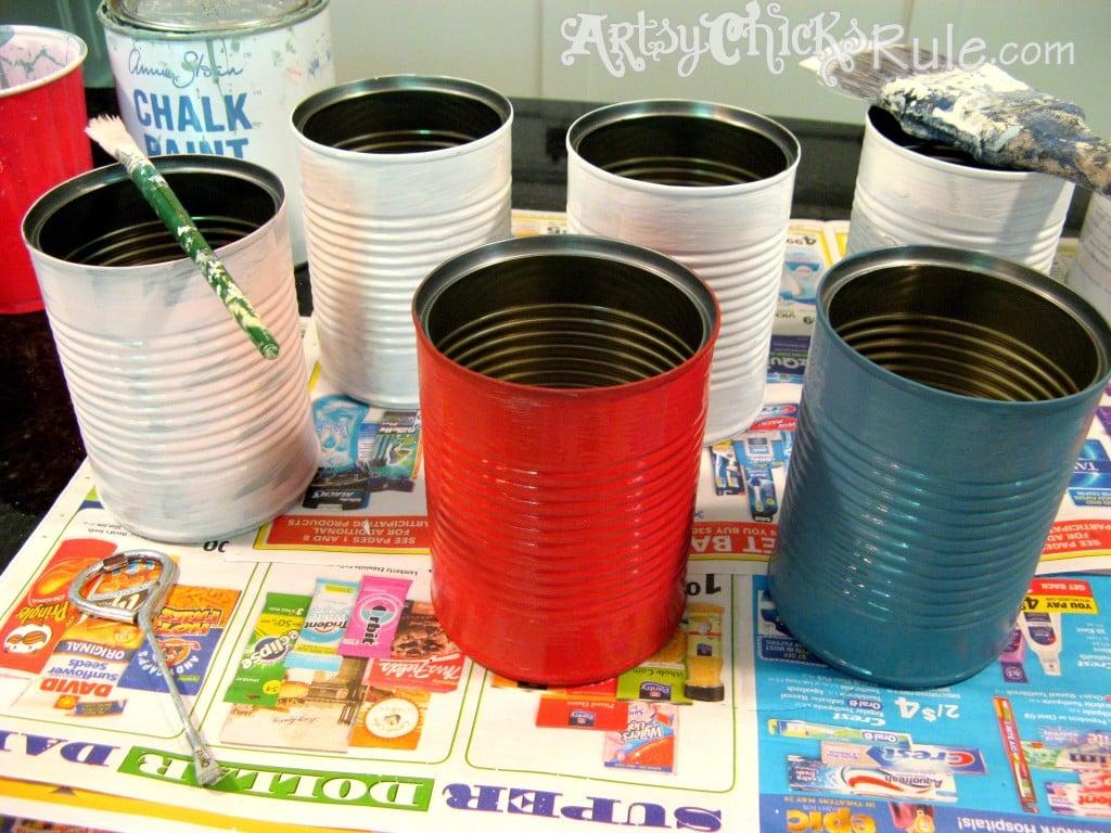 Simple TIN CAN crafts you can do!! artsychicksrule.com #diygiftideas #kidsprojects #tincan #tincancrafts #mothersdaygifts