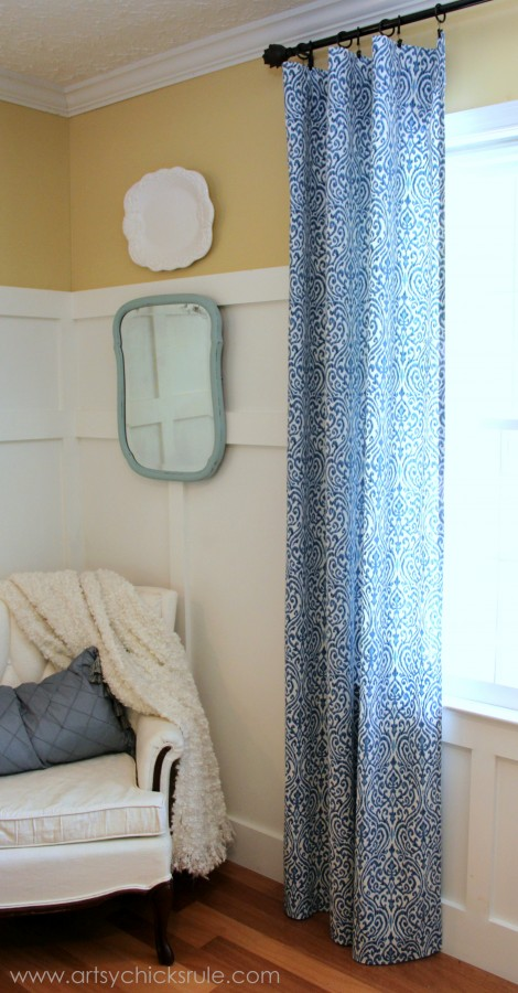 Easy, DIY, No Sew Curtain Panels 2 - Artsy Chicks Rule