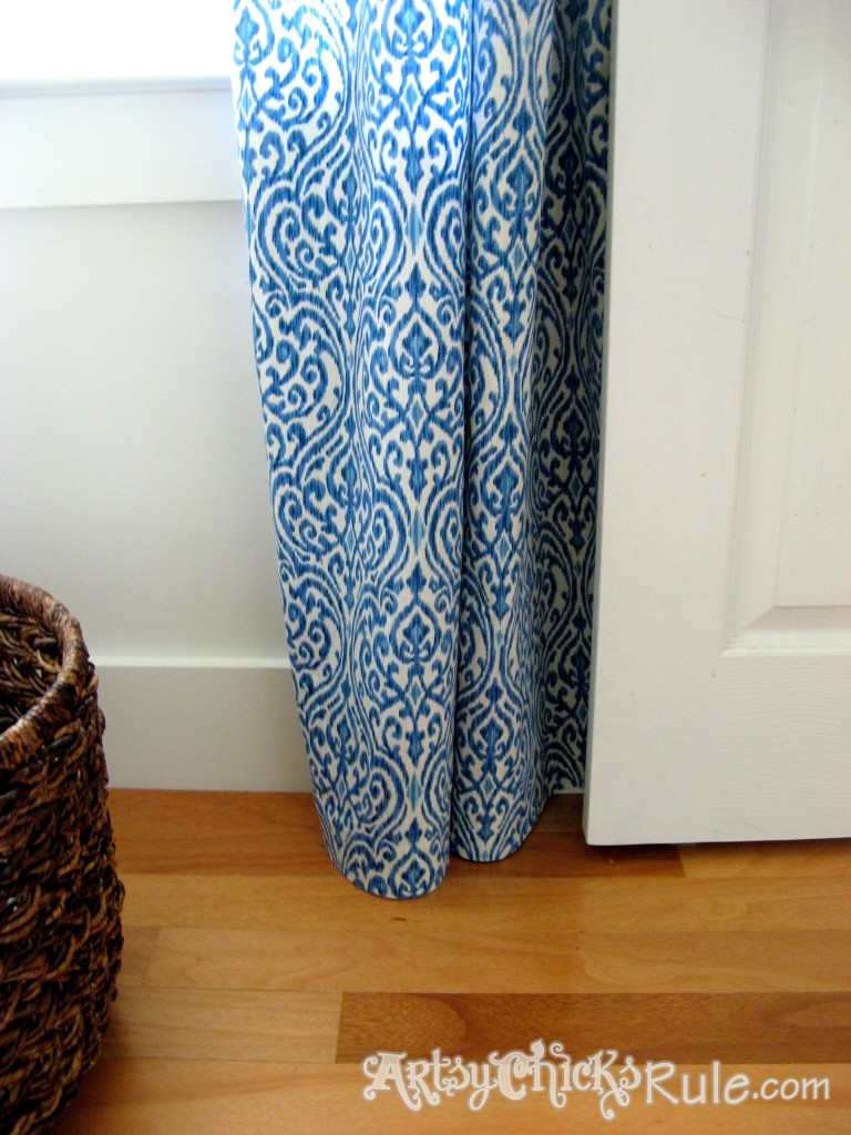 No Sew Curtain Panels - Inexpensive and Easy - artsychicksrule.com #nosew #nosewcurtains #diycurtains