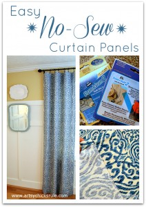 No Sew Curtain Panels - Inexpensive and Easy