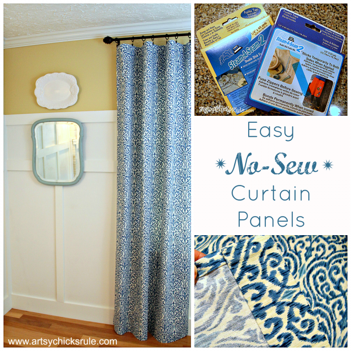 Easy No Sew Curtain Panels Artsy S Rule