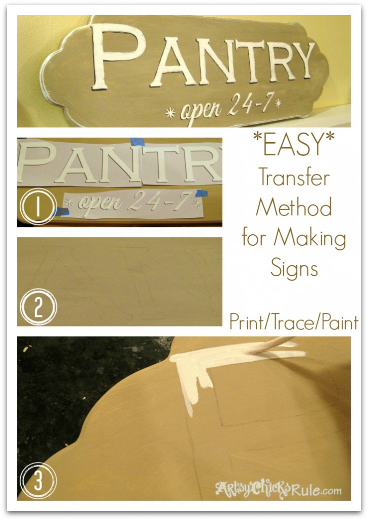Pantry Sign - Easy Graphics Transfer Method