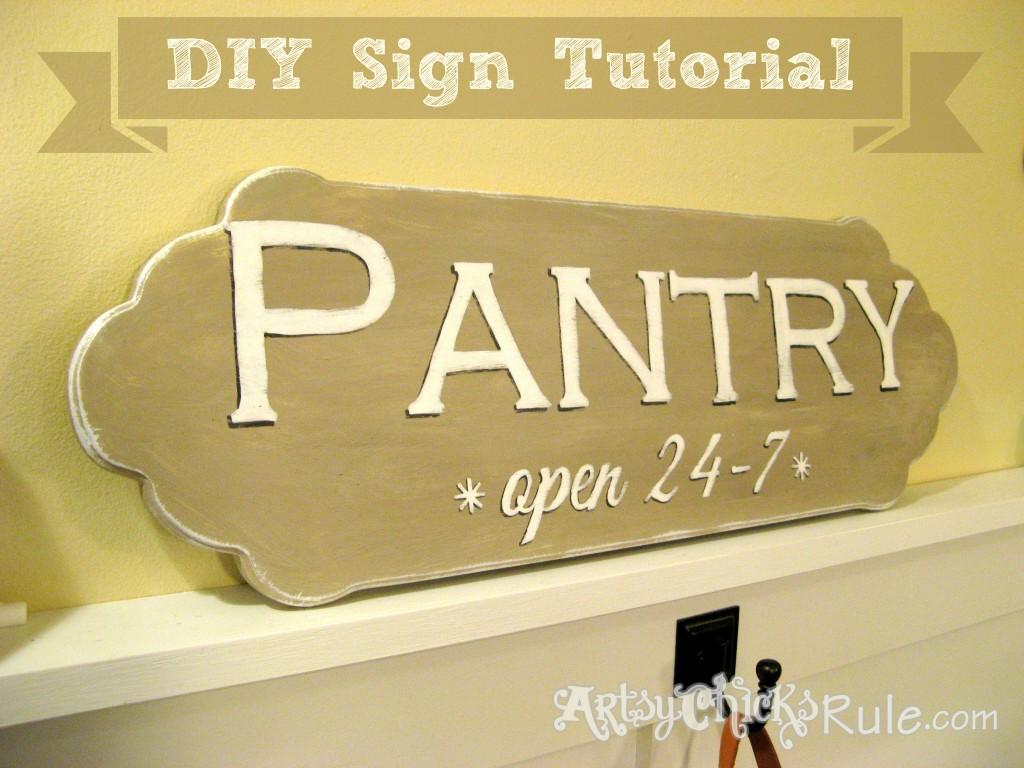 Pantry Sign Tutorial