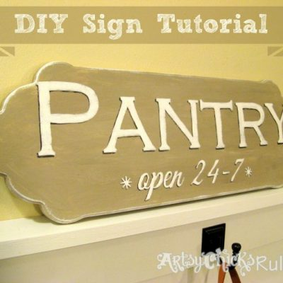 Easy, DIY Pantry Sign Tutorial (Chalk Paint & Graphics)