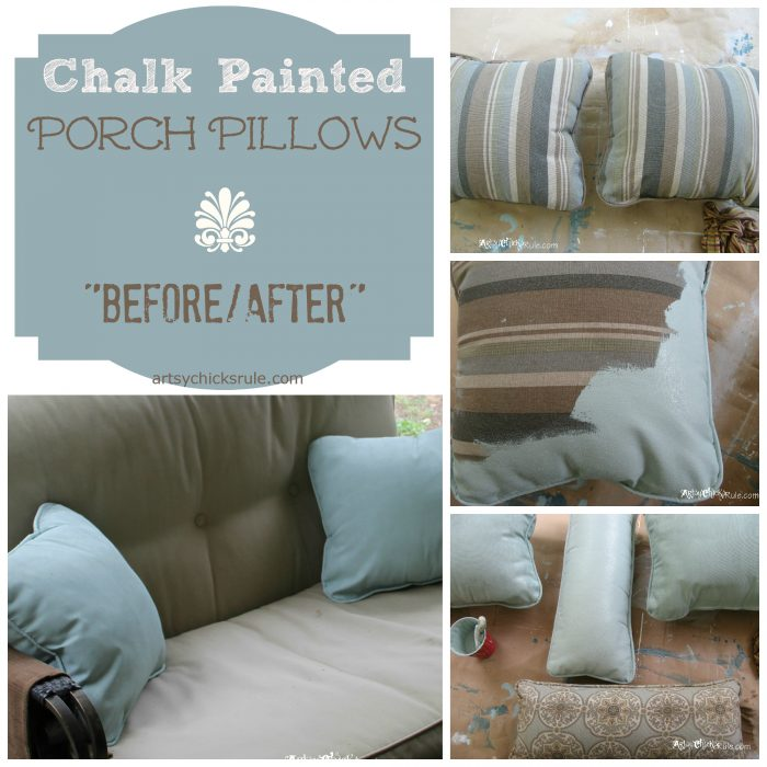 Chalk Painted Porch Pillows Annie, What Is Chalk Paint For Outdoor Furniture