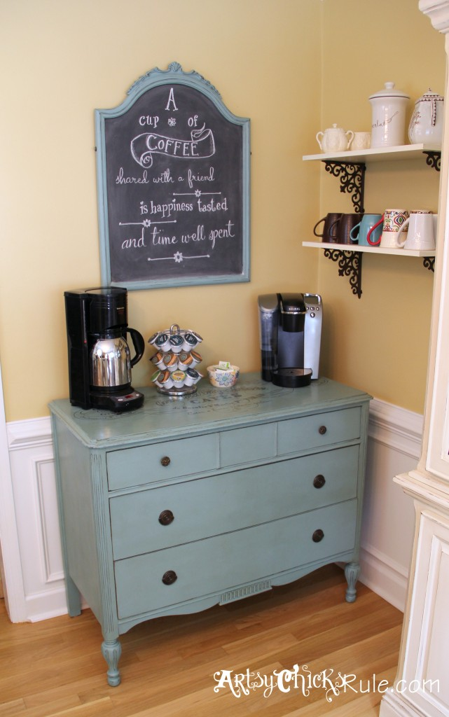 Chalk Paint Coffee Bar w/Graphic