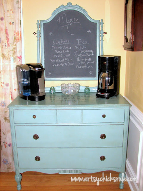 Coffee Bar Server from old $35 dresser!!! artsychicksrule.com