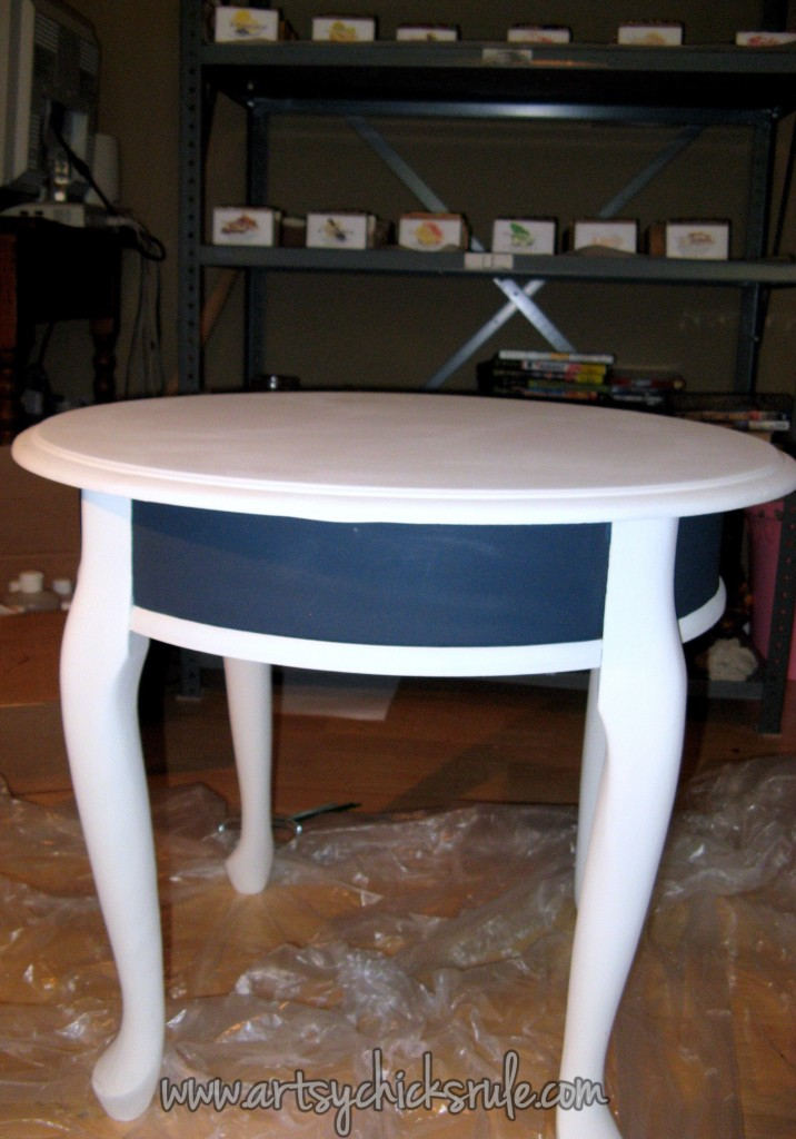 Compass Rose Table Painted (Annie Sloan Chalk Paint)