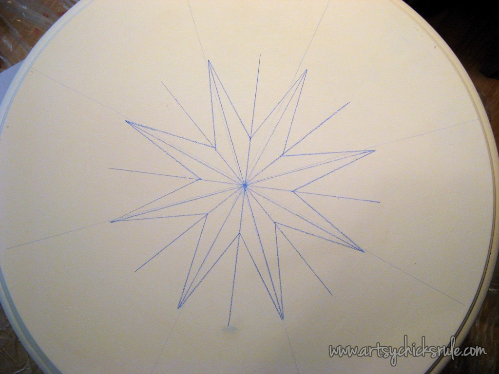 Compass Rose Table Top Drawing 2