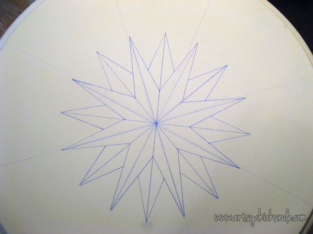 Compass Rose Table Top Drawing Complete