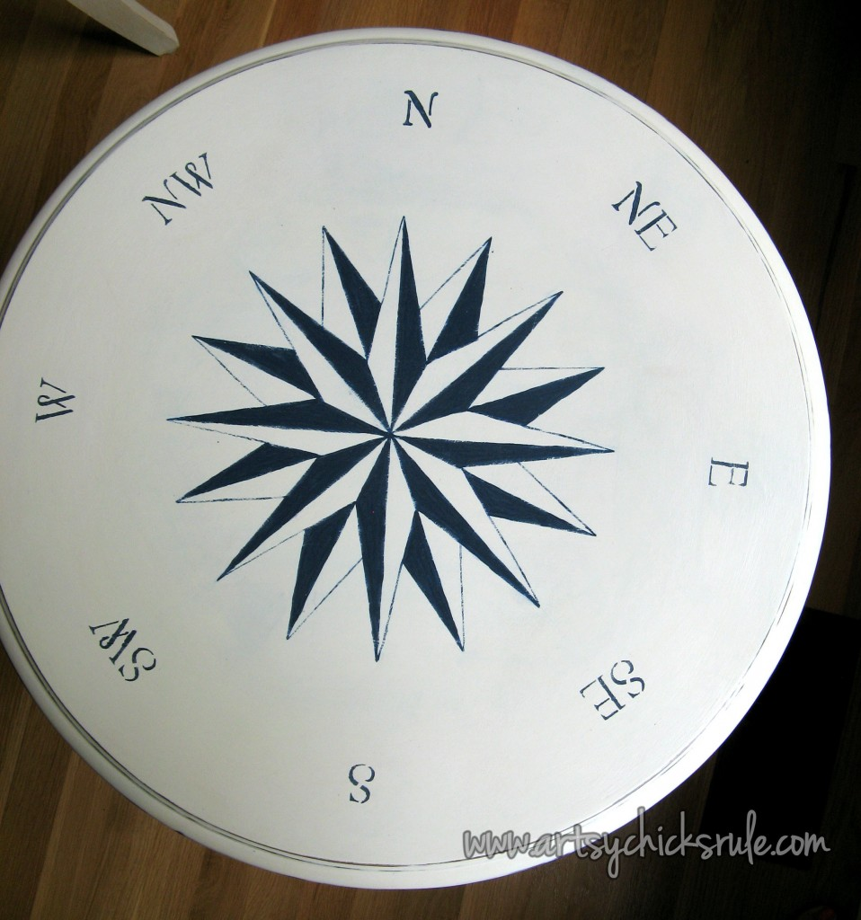 Super simple (it looks complicated, it's NOT!) compass rose!!