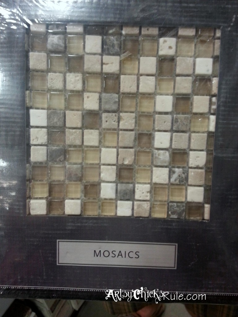 Kitchen Island Backsplash - Mosiac Tile artsychicksrule.com #backsplash #tile #diy