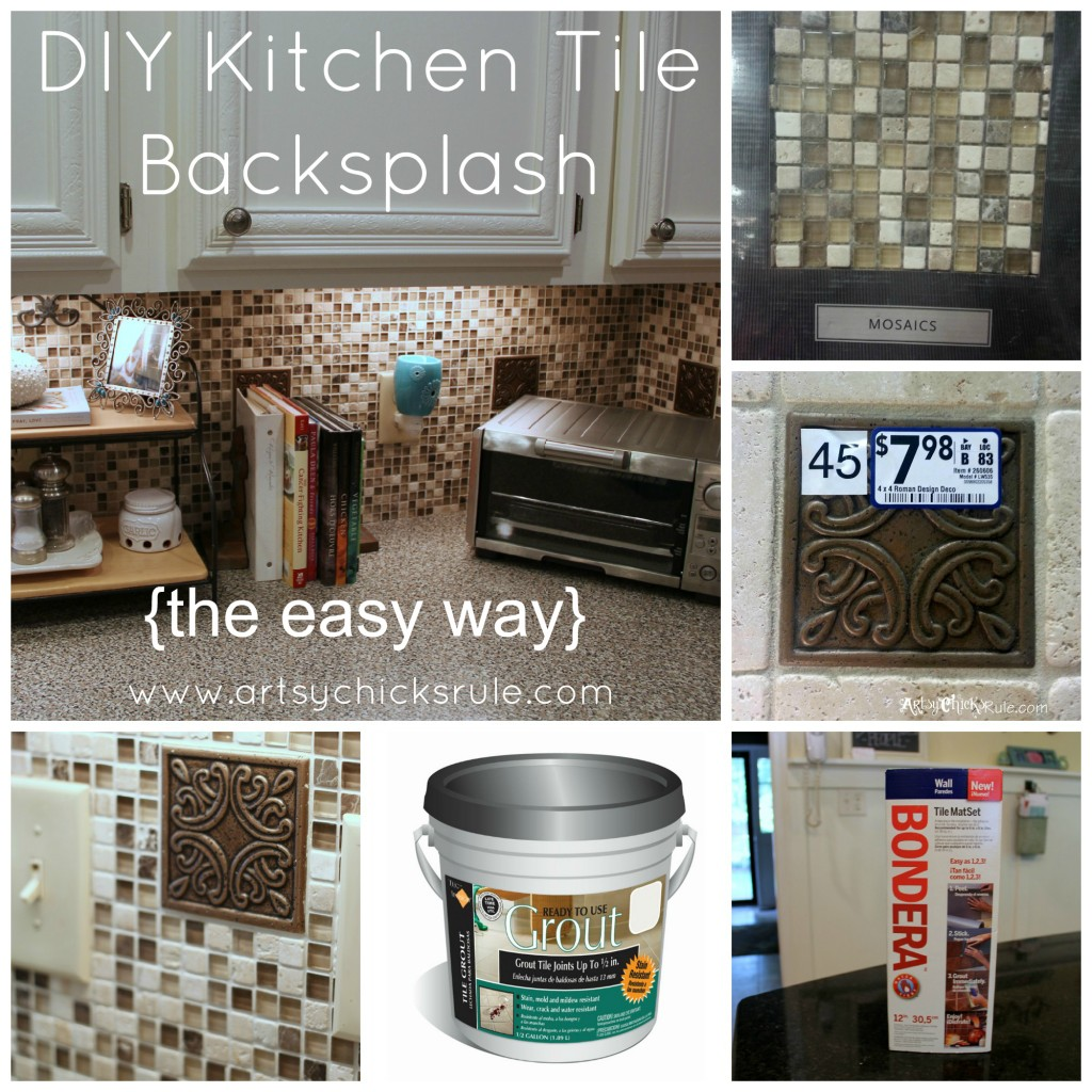 High Quality Kitchen Tile Backsplash Collage  Artsychicksrule.com #backsplash #tile #diy