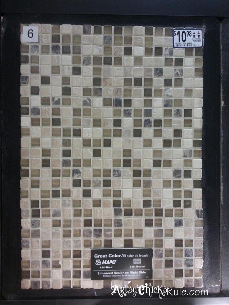Kitchen Tile Backsplash - Tile Example- artsychicksrule.com #backsplash #tile #diy