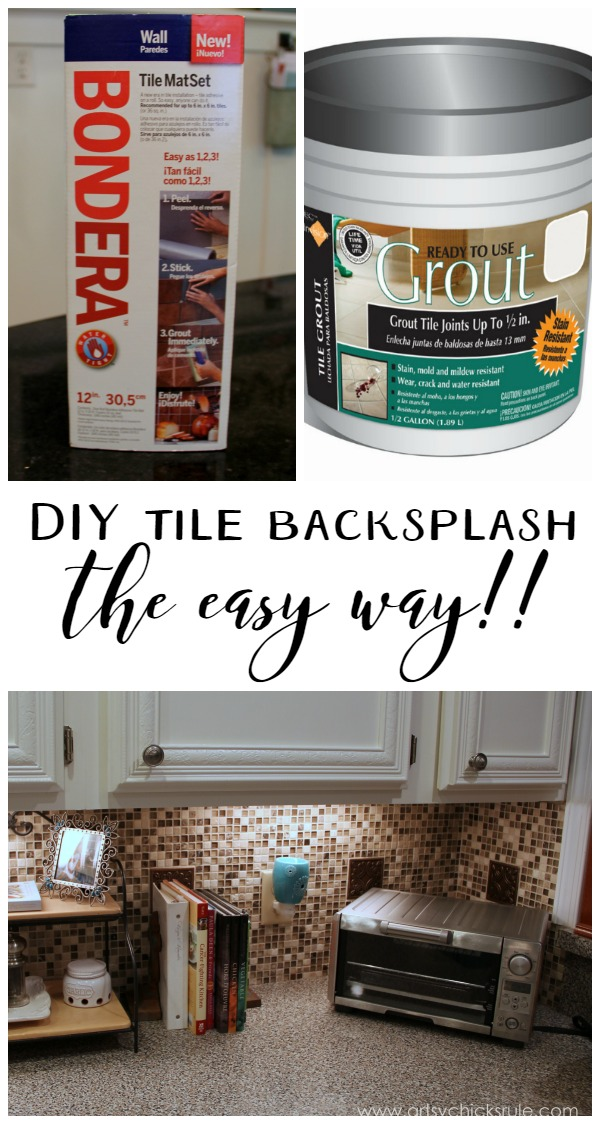 Wow, this makes the job SO easy!! Tile Backsplash artsychicksrule.com