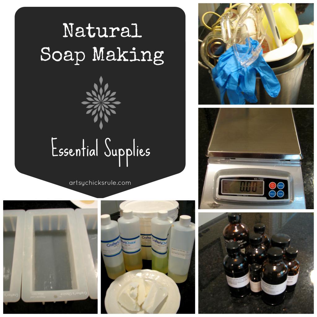 Natural Soap Making - Healthy, all natural! artsychicksrule.com #soapmaking #coldprocesssoap #naturalsoap #handmadesoap #homemadesoap #soaptutorial #diysoap